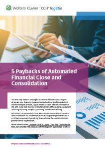 CCH Tagetik whitepaper: 5 paybacks of automated financial close and consolidation